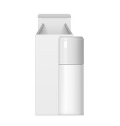 realistic white cosmetic bottle and packaging vector image vector image