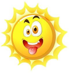Silly face on the sun vector image