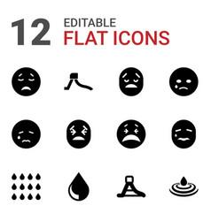 12 aqua icons vector