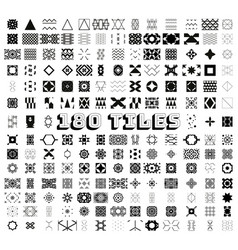 180 tiles geometric and ornamental seamless vector