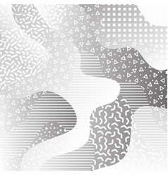 80s black and white memphis background vector image
