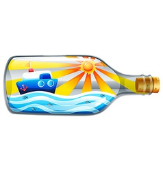 A bottle with a summer template vector image