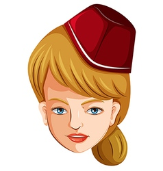 A head of a flight attendant vector