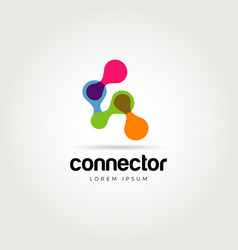 abstract colorful chain connection logo symbol vector image