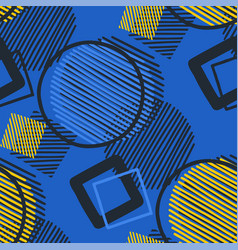 Abstract graphic pattern striped and outlined vector