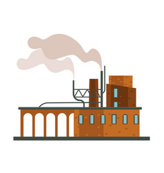 air pollution factory or plant industrial smog vector image