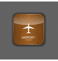 Airport application icons vector image
