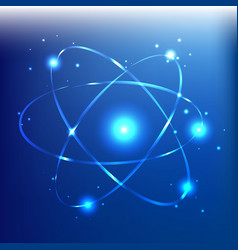 atom beautiful vector image