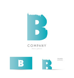 b blue letter alphabet logo icon design vector image