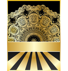 Background with golden floral vector