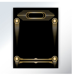beautiful art deco techno golden black page vector image