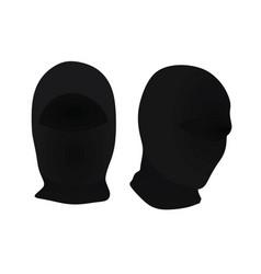 Black ninja mask vector