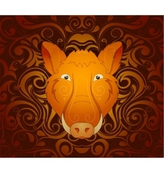 Boar pig as symbol for year 2019 vector