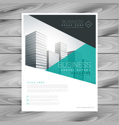 Brochure layout template flyer presentation vector