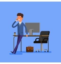 Business concept Cartoon businessman vector