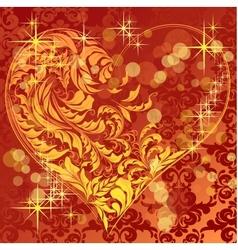 calligraphic heart vector image