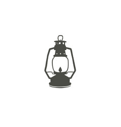 camping lantern icon silhouette icon oil lamp vector image