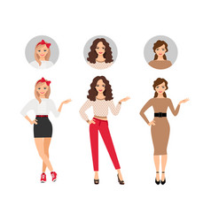 casual fashion women set vector image