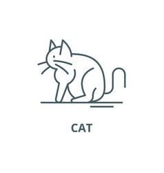 cat line icon cat outline sign concept vector image