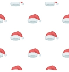 Christmas cap icon in cartoon style isolated on vector