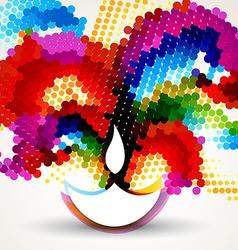 Colorful happy diwali vector