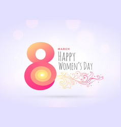 creative womans day greeting background with vector image