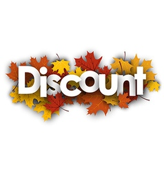 Discount background with maple leaves vector image