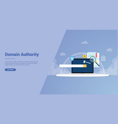 Domain authority for website template or landing vector