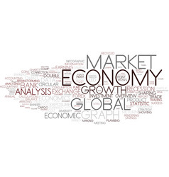 Economy word cloud concept vector