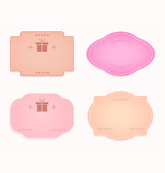 Emblem oval-shaped label pink purple pastel vector