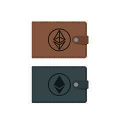 ethereum wallet with coins vector image