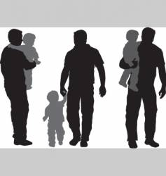Father and child vector