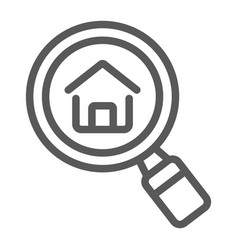 find real estate company line icon real estate vector image