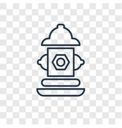 fire hydrant concept linear icon isolated on vector image