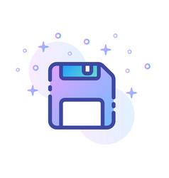 Floppy disk linecolor vector