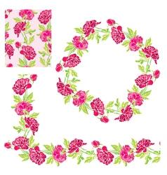 flower frame 5 380 vector image