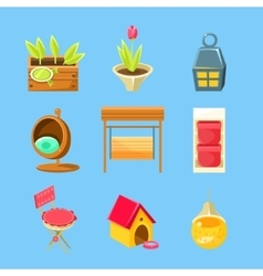 Garden Stuff Set vector