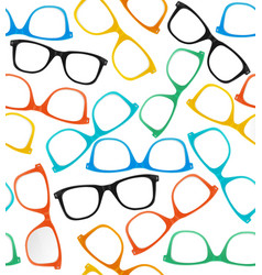 Glasses Hipster Style Background Pattern vector