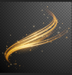 Gold glitter wave vector