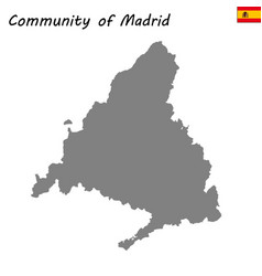 high quality map autonomous community of spain vector image