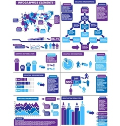 INFOGRAPHIC DEMOGRAPHICS PURPLE 11 vector image
