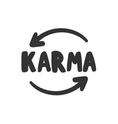 Karma sticker for social media content vector
