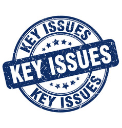 Key issues blue grunge stamp vector