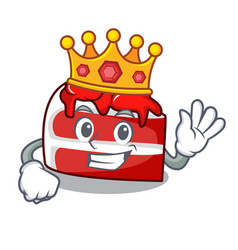 King red velvet mascot cartoon vector