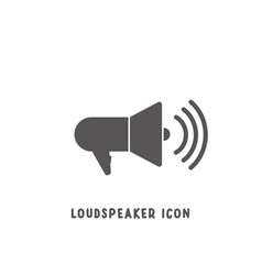 loudspeaker icon simple flat style vector image