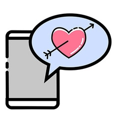Love crush message vector