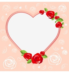 Love heart Template cards for Valentines Day vector image