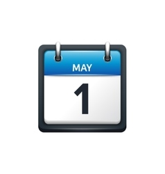 May 1 Calendar icon flat vector image vector image
