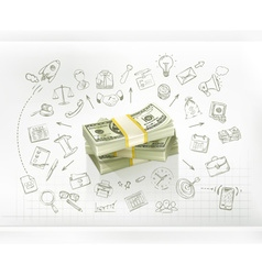 Money business infographics vector