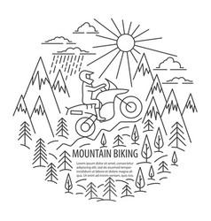 motorbike tour template vector image